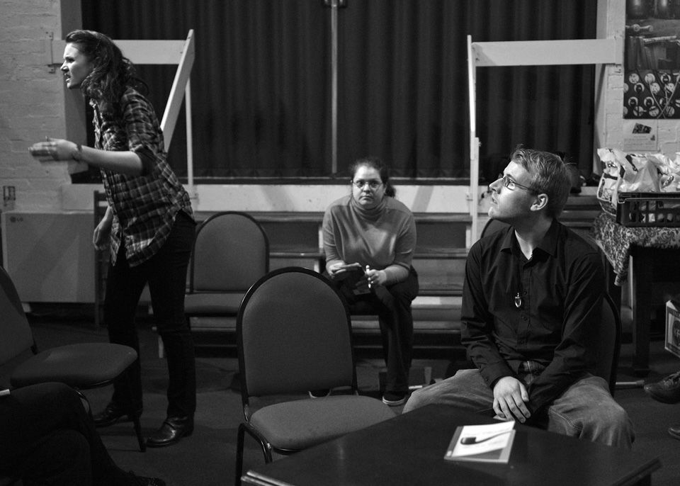 Roxana, Dot (director) and Nick in This is a Chair, 2014