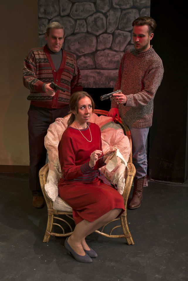 Rob Suttle, Judie Matthews and Edward Crook in Deathrtrap, 2014