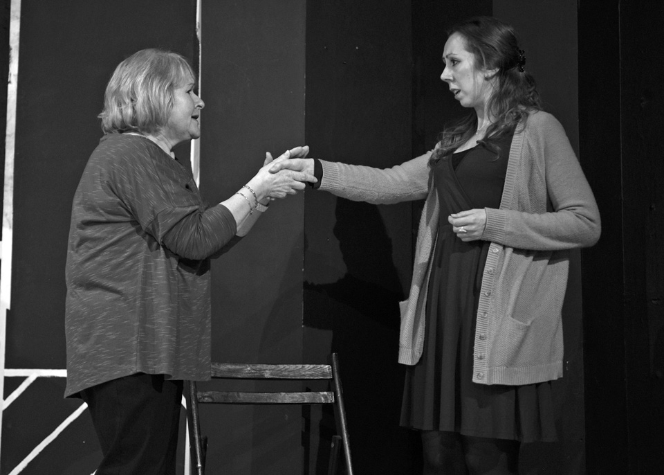 Carole Parkinson and Judie Matthews in Deathtrap, 2014