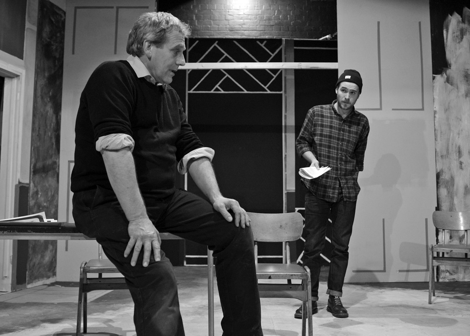 Robert Suttle and Edward P Crook in Deathtrap, 2014