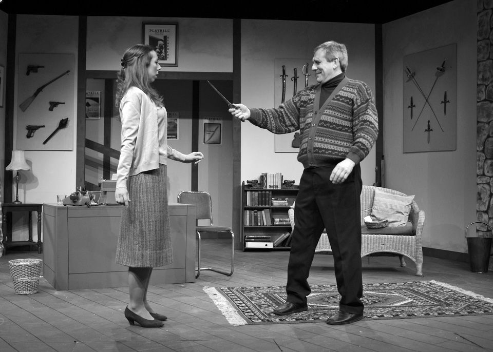 Judie Matthews and Robert Suttle in Deathtrap, 2014