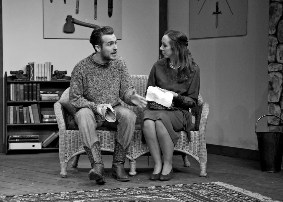 Edward P Crook and Judie Matthews in Deathtrap, 2014