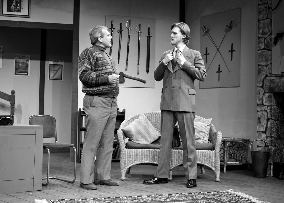 Robert Suttle and Steve Mitchell in Deathtrap, 2014
