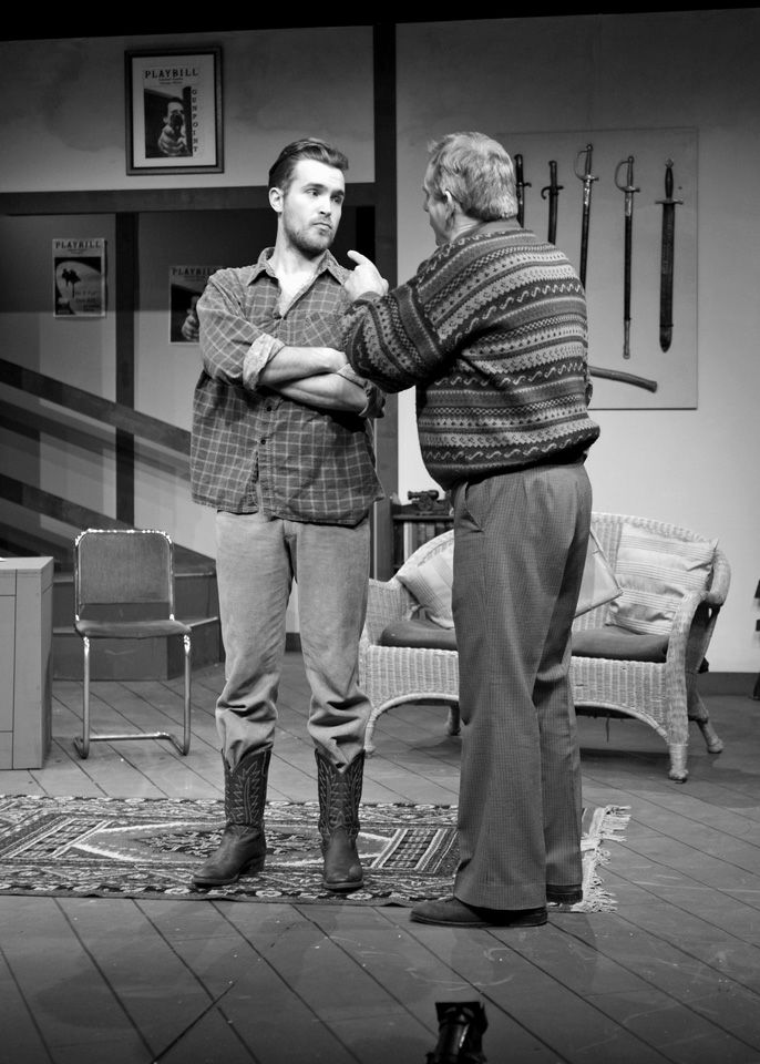 Edward P Crook and Robert Suttle in Deathtrap, 2014