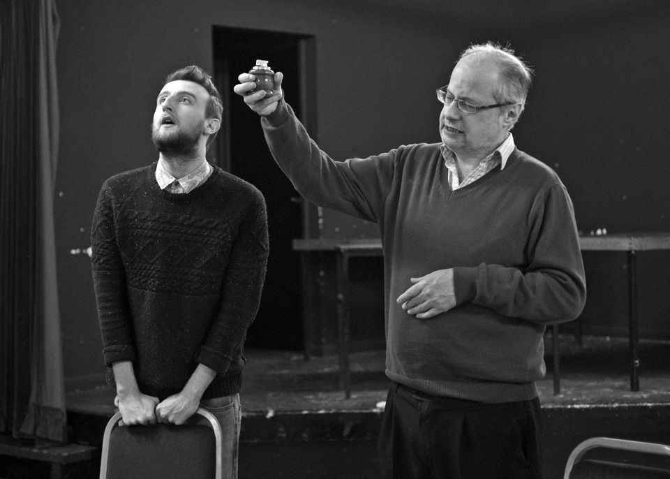 George Page-Bailey and David Pain in Black Comedy, 2014