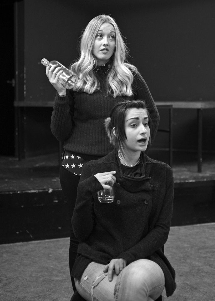 Charlie Osborne and Nicky Ubhi in Black Comedy, 2014