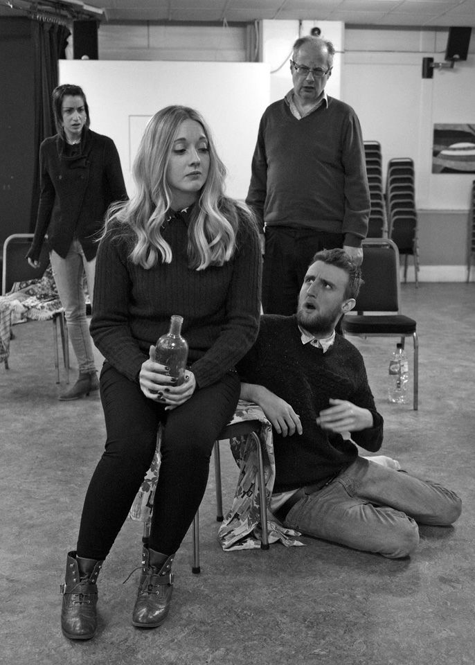 Nicky, Charlie, David and George in Black Comedy, 2014