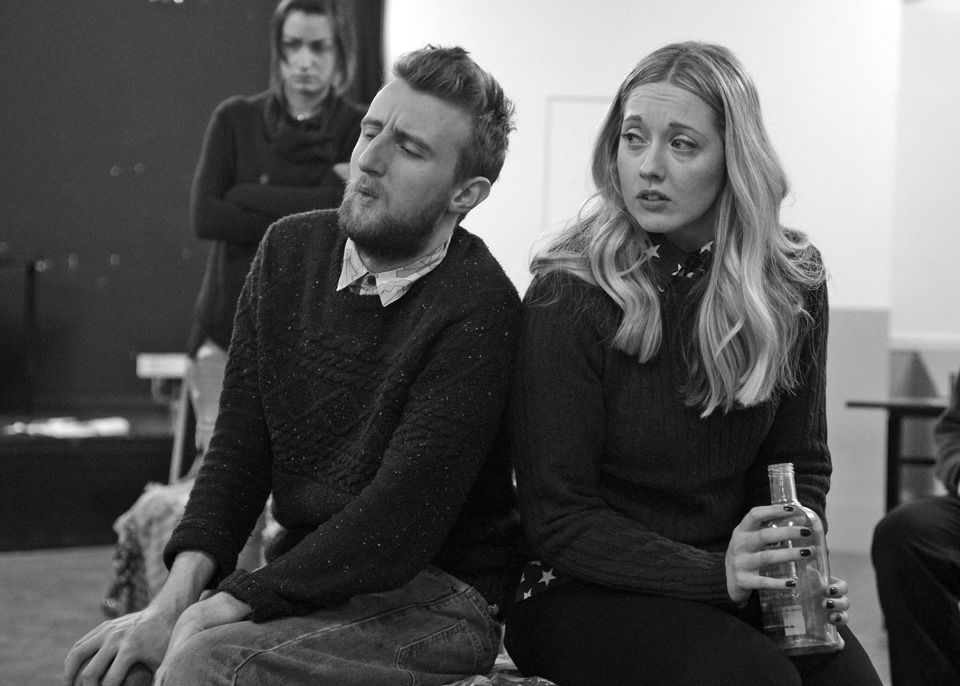 Nicky, George and Charlie in Black Comedy, 2014