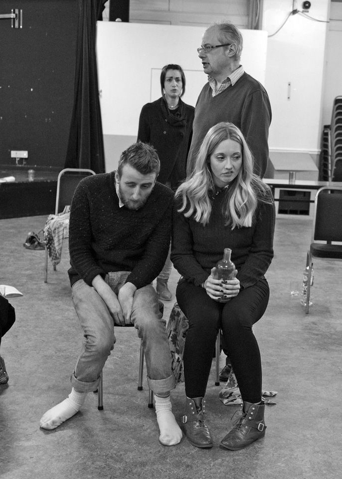 Nicky, David, George and Charlie in Black Comedy, 2014