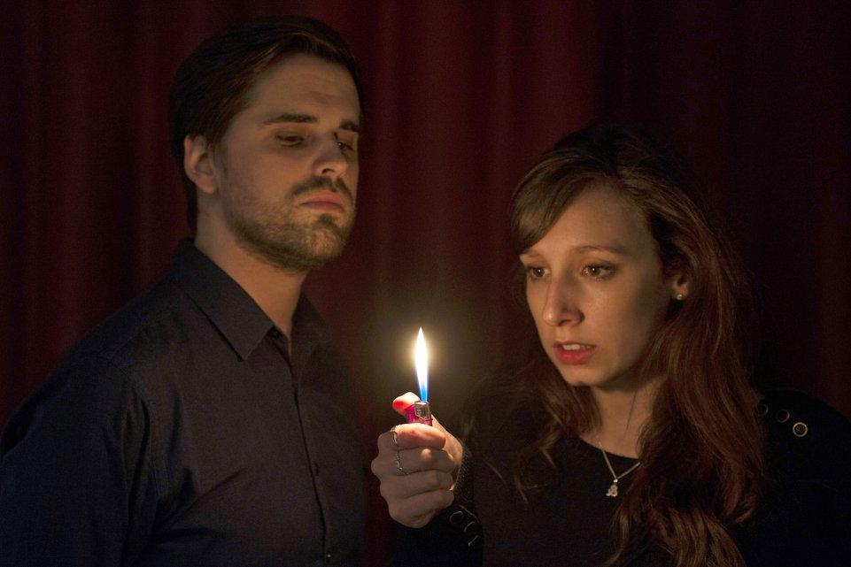 Matt Huntbach and Emma Hayes in Little Dolls, 2014