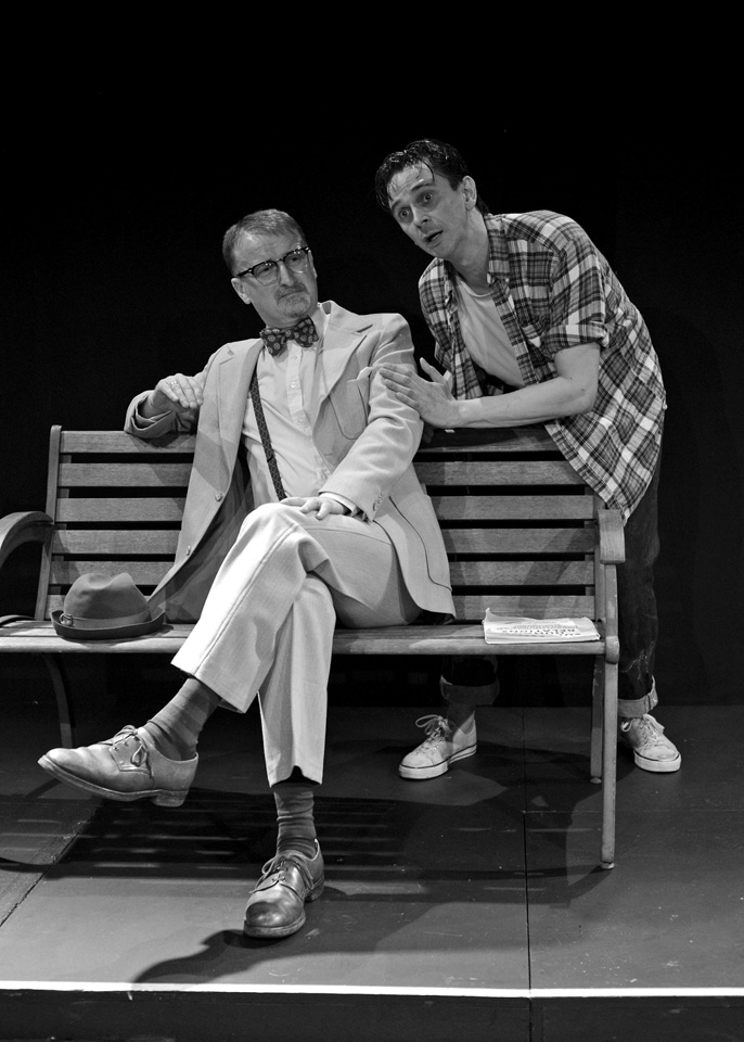 Richard Holmes and Guy Evans in The Zoo Story, 2014