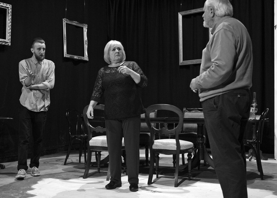 George, Carol and Geoff in Rutherford and Son, 2014