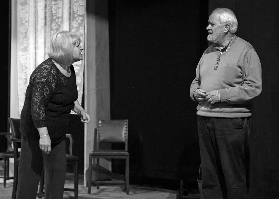 Carol Parkinson and Geoff Longbottom in Rutherford and Son, 2014