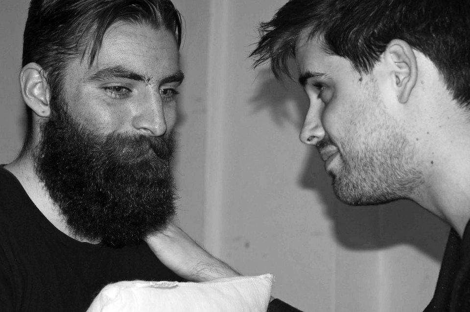 Ajay Stevenson and Matthew Hunt in The Pillowman, 2014