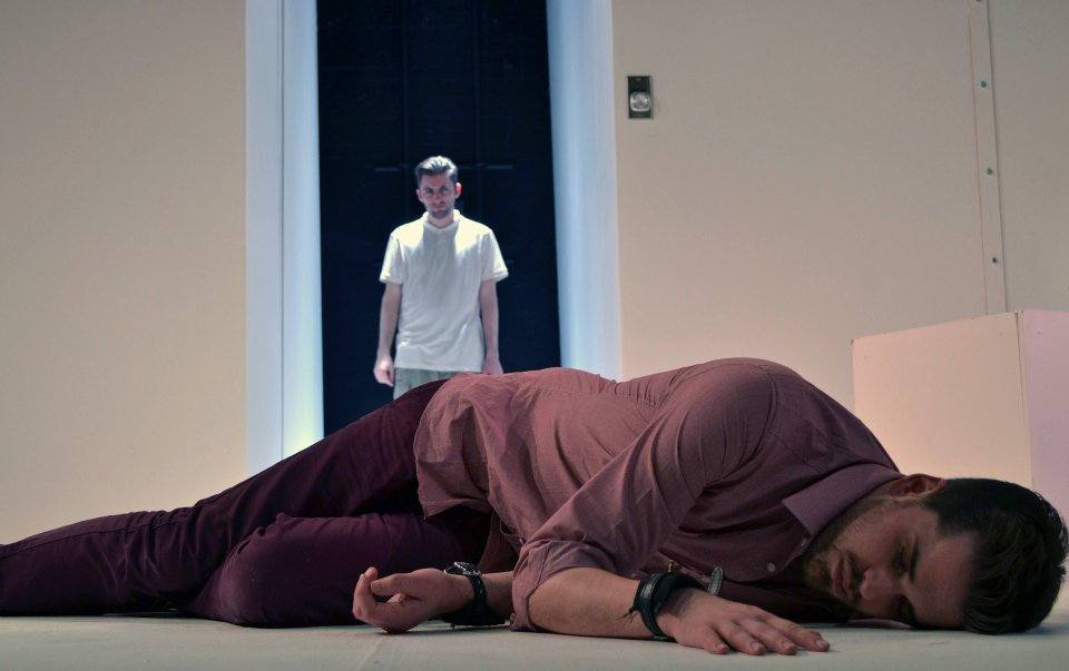 Ajay Stevenson and Matthew Hunt in The Pillowman, 2014