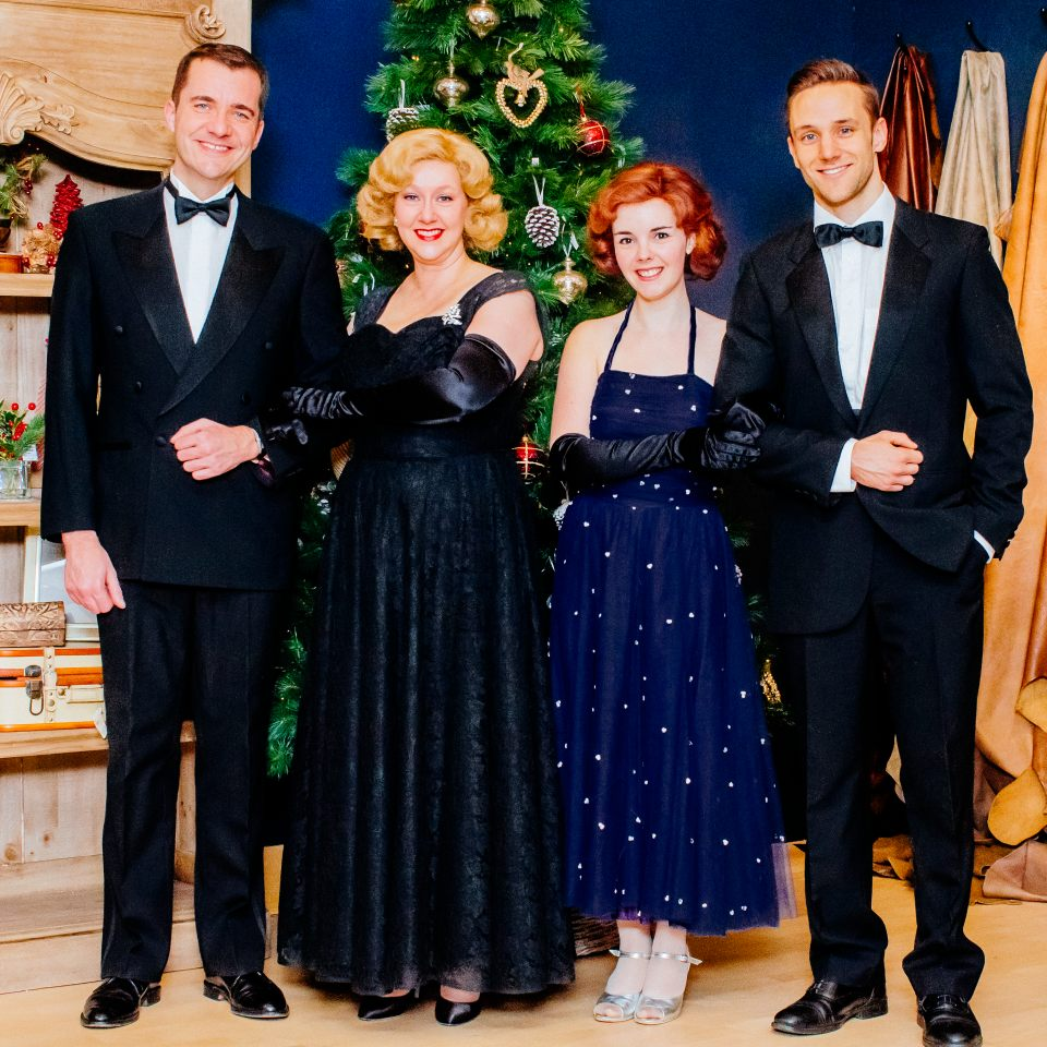 Paul, Jackie, Lucy and Chris in White Christmas, 2014