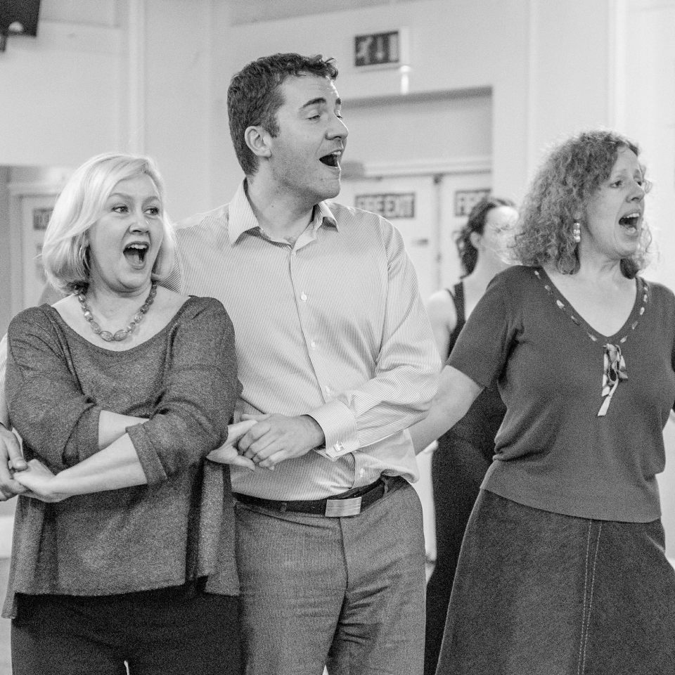 Jackie, Paul, Claire amd Alison in White Christmas, 2014