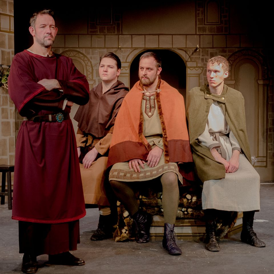 John, Richard, Chris and James in The Lion in Winter, 2015