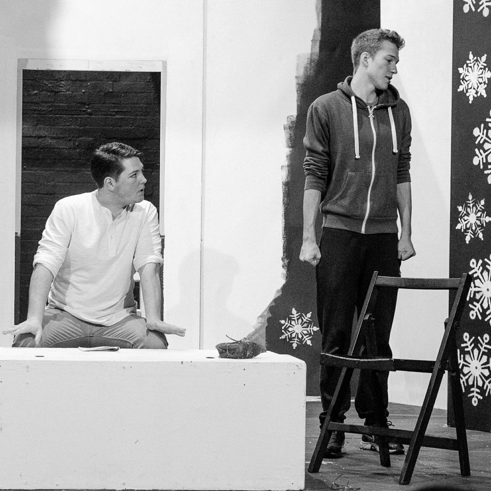Richard Hill and James Green in The Lion in Winter, 2015