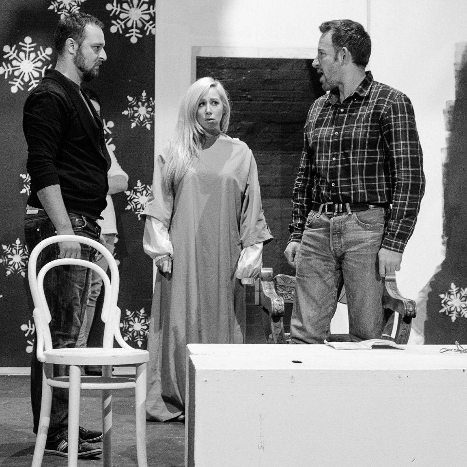 Chris, Rachel and John in The Lion in Winter, 2015