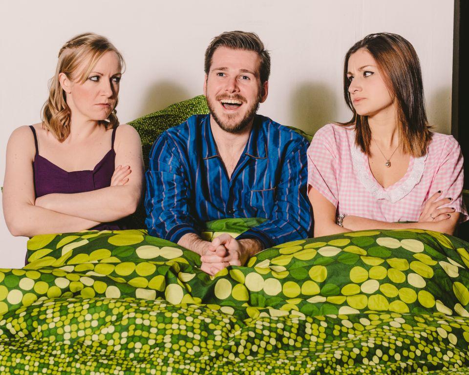 Tilda, Adam and Nicky in Bedroom Farce, 2015