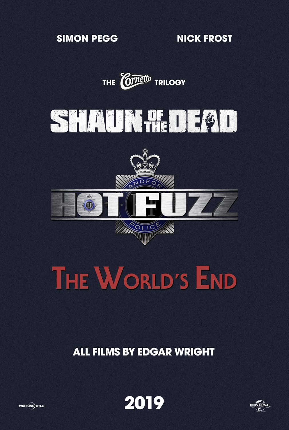 EDGAR WRIGHT - Cornetto Trilogy + Scott Pilgrim!