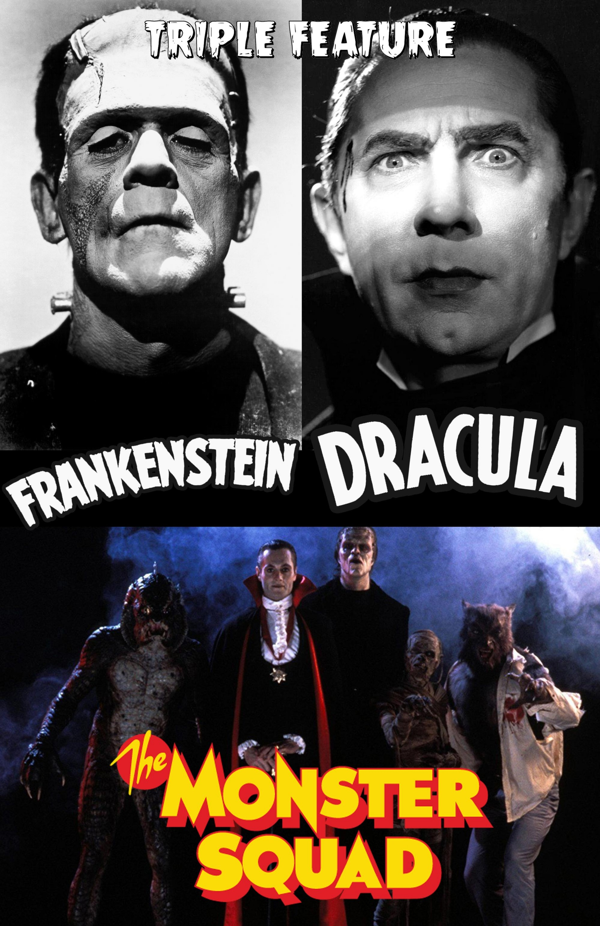 MONSTER TRIPLE FEATURE : FRANKENSTEIN, DRACULA & MONSTER SQUAD