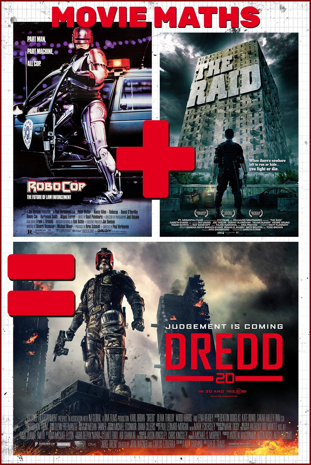 MOVIE MATHS : ROBOCOP + THE RAID = DREDD [2D]