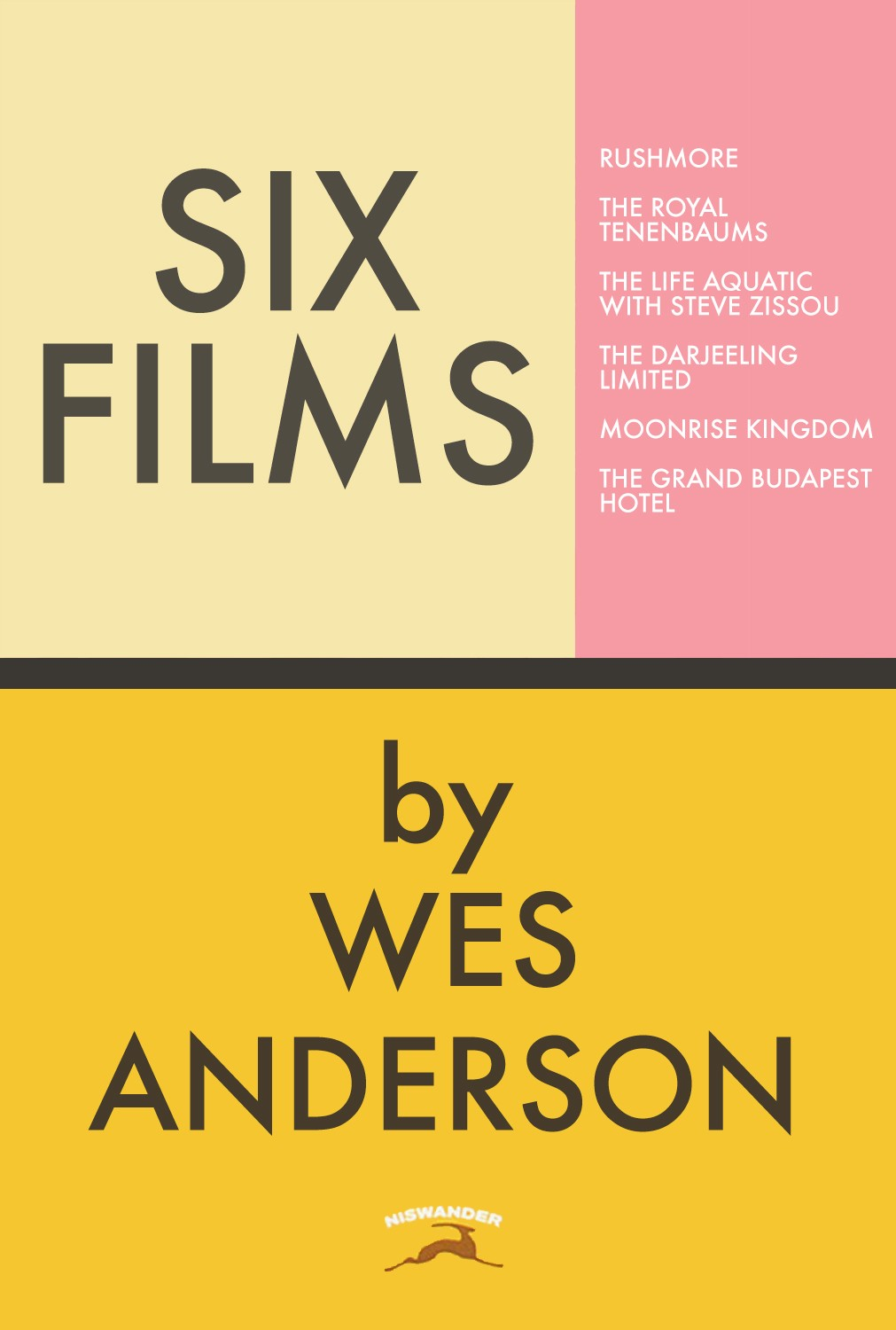 SIX FILMS BY WES ANDERSON