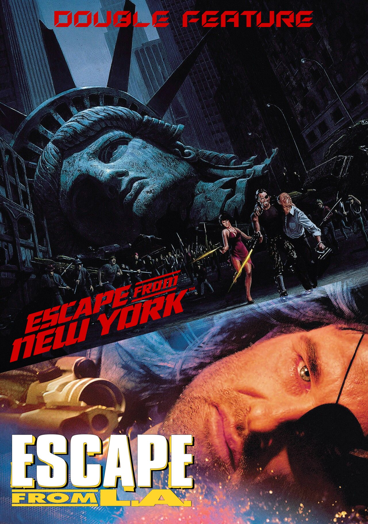 ESCAPE FROM NEW YORK & L.A.- DOUBLE FEATURE