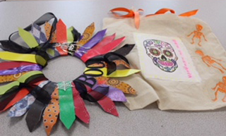 Halloween Wreath and Tote