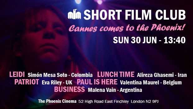 Short Film Club: Cannes comes to the Phoenix!