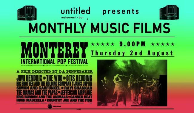 Untitled Bar Presents: Monterey Pop