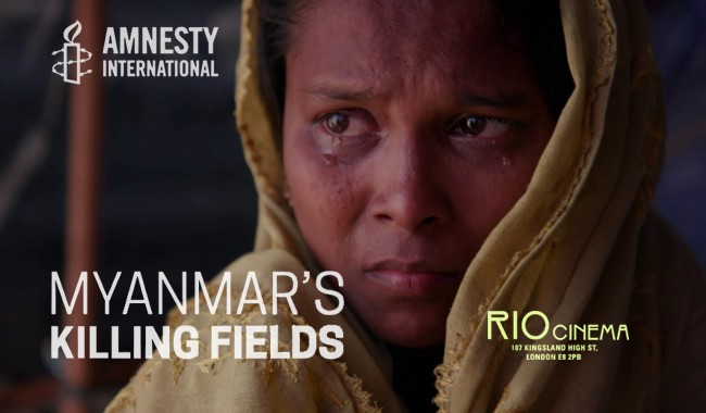 Amnesty presents: Myanmar's Killing Fields + Q&A
