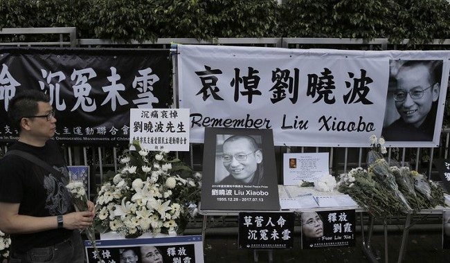 The Nobel Laureate: defied Beijing, died in jail