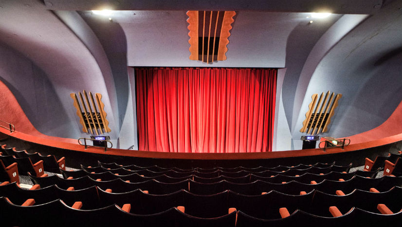 The Rio's Art Deco auditorium from the circle