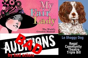 Regal Community Theatre Presents..... 3 Acts!