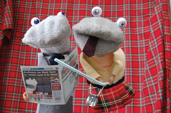 Scottish Falsetto Sock Puppet